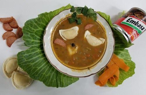 Chipotle-Pierogie Soup